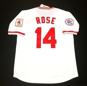 Other - Pete Rose Jersey Cincinnati Reds Throwback M XL 2X